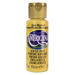 фото Краска акриловая DecoArt Премиум Americana. Цвет: острая горчица