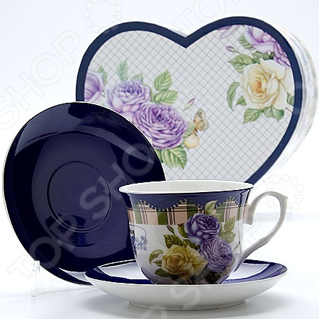 Чайная пара Loraine LR-23026Чайные и кофейные пары<br>Сервировка это важный элемент при подаче любого блюда, пусть то будет изысканное жаркое или простой чай с любимым лакомством. Качественная и красивая посуда позволит не только в полной мере насладиться напитком, но и получить эстетическое удовольствие от самого чаепития. Яркий и красивый чайный набор Loraine LR-23026 рассчитан на 1 персону и включает в себя одну аккуратную и изящную чашку, украшенную оригинальным рисунком, одно блюдце. Все предметы выполнены из высококачественного костяного фарфора. Однако несмотря на свою внешнюю хрупкость, они отличаются прочностью и практичностью. Яркий и красочный дизайн с цветочным рисунком является дополнительным преимуществом набора, поэтому оно придется по вкусу ценителям классики и современной утонченности. Чайный набор Loraine LR-23026 станет идеальным и практичным подарком, который по достоинству оценят ваши друзья и близкие! Набор упакован в подарочную коробку в виде сердце, задрапированную внутри белым атласом.<br>
