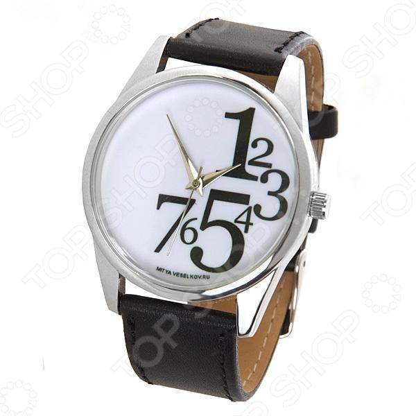 Часы наручные Mitya Veselkov «Цифры справа»