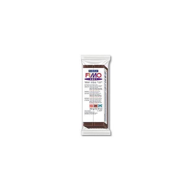 фото Глина полимерная запекаемая Fimo Soft 8022. Цвет: шоколадный