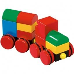 Купить Конструктор из кубиков на магнитах BRIO 30124 «Поезд»