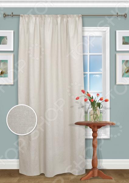 Штора Kauffort Sanzay LonetaШторы<br>Окно в комнате может считаться её символическим центром, поэтому так важно выбрать подходящее для него художественное оформление, которое бы гармонично вписывалось в выбранный вами стиль интерьера. Правильно подобранные шторы способны преобразить вашу комнату, сделать её более светлой или уединенной, яркой или более спокойной, визуально больше или уютней. Красивый текстиль для уютного дома! Штора Kauffort Sanzay Loneta станет отличным решением для вашего дома! Она одинаково удачно и выигрышно будет смотреться как в вашей спальне, так и в гостиной, гостевой комнате. Отлично впишется в любой интерьерный стиль. Штора выполнена из качественного и прочного материала лонеты. Этот материал жаккардового типа обладает несколькими положительными сторонами:  полотняное переплетение синтетических и натуральных нитей, делает ткань очень прочной и износостойкой;  не требует особого ухода и подходит для использования в стиральной машине;  легко подается драпировке за счет своей легкой и пластичной текстуры;  приятная текстура ткани;  ткань дышит , поэтому обеспечивает прекрасную циркуляцию воздуха в помещении;  нанесенный на него рисунок не выгорает на солнце и не теряет свой цвет после многочисленных стирок;  формирует мягкие складки без заломов. Стильная, практичная и долговечная! Благодаря интересному дизайну, данная модель может использоваться в качестве самостоятельного украшения окна. Оригинальный узор с цветочным мотивом придется по нраву ценителям классики и тем, кто предпочитает более современные принты. Великолепно сочетается с легкими, парящими тюлями из полупрозрачной вуали. Термоклеевая лента позволяет регулировать высоту шторы. Изделие оформлено подхватом шириной 8 см. Штора крепится на шторную ленту или тесьму.<br>