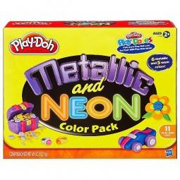 фото Набор пластилина из металлических и неоновых цветов Play-Doh