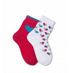 Купить Комплект детских носков Teller Lovely Hearts. Цвет: белый, розовый