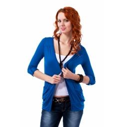 фото Жакет Mondigo 18495. Цвет: джинсовый. Размер одежды: 46