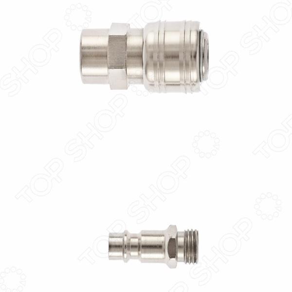 Набор переходников MATRIX 57016Другое для пневмоинструмента<br>Набор переходников MATRIX 57016 предназначен для перехода с быстросъемного на резьбовое соединение. Внутренний диаметр составляет 1 4 . Такой набор будет необходим во время работы с различными строительными инструментами. Переходники выполнены из качественного и долговечного металла.<br>