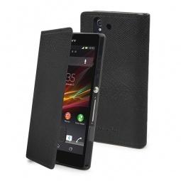 фото Чехол Muvit Slim Folio Python для Sony Xperia Z. Цвет: черный
