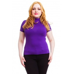 фото Водолазка Mondigo XL 037. Цвет: фиолетовый. Размер одежды: 50