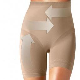 фото Трусы-шорты корректирующие с высокой талией Ergoforma N410465. Цвет: бежевый