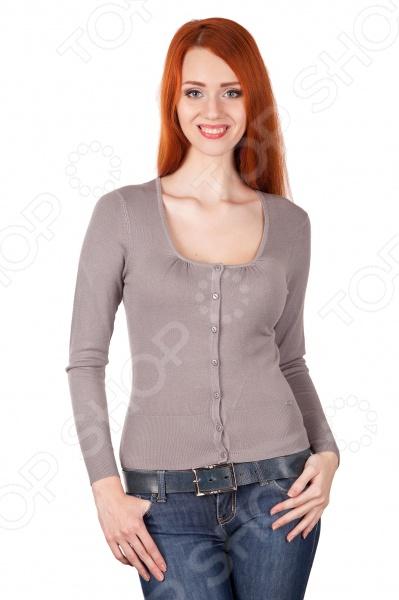 Жакет Mondigo 9721. Цвет: серыйЖакеты. Пиджаки<br>Жакет Mondigo 9721 представляет собой очаровательный элемент верхней одежды на пуговицах приталенного силуэта с длинным рукавом и округлым вырезом горловины. Он выполнен из высококачественной пряжи, благодаря чему модель не теряет своей формы после стирок. Жакет обладает удобной застежкой на пуговицы, а низ изделия обработан в рубчик. Прекрасный повседневный вариант.<br>