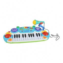 фото Музыкальный инструмент игрушечный Joy Toy «Электронное пианино с микрофоном». В ассортименте