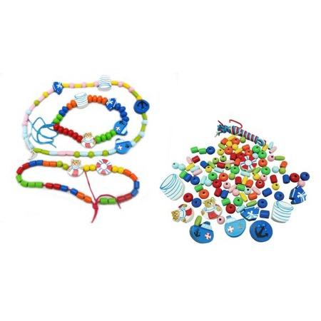 Купить Игра развивающая для малыша Mapacha «Шнуровка-бусы. Морские сказки»