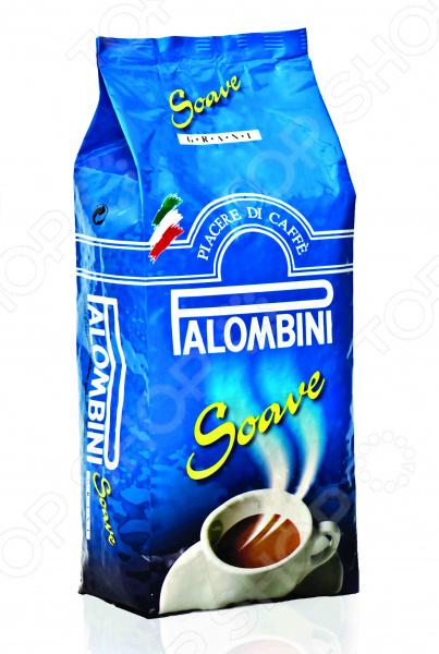 Кофе в зернах Palombini SoaveКофе в зернах<br>Кофе в зернах Palombini Soave по достоинству оценят любители этого бодрящего, ароматного напитка. Еще целые зерна можно перемолоть именно настолько, насколько вы этого желаете, что несомненный плюс по сравнению с молотым кофе. Palombini Soave идеально подходит для приготовления кофе в домашних условиях. Тщательно отобранные зерна арабики, умело сочетаются с робустой, что дает невероятно яркий, запоминающийся вкус и исключительный аромат. Также стоит отметить, что зерна прошли обжарку среднего типа. Поставляется в вакуумной упаковке с клапаном.<br>