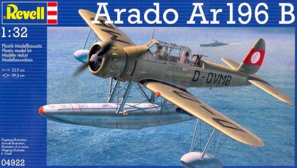 Сборная модель самолета-разведчика Revell 04922R «Arado Ar196B»Авиамодели<br>Сборная модель самолета-разведчика Revell 04922R Arado Ar196B - замечательный подарок для тех, кто предпочитает воссоздавать культовую военную технику собственными руками. Главной особенностью сборной модели является её удивительная детализация, высокое качество и прочность. С помощью включенных в набор 190 компонентов вы сможете собрать миниатюрную, но точную копию великолепного самолета-разведчика Arado Ar196B , с помощью которого немецкий военно-морской флот получал данные о вражеских подводных лодок и организовывал атаки на небольшие суда в Европе в течении все Второй Мировой войны. Этот набор придется по душе не только ребенку, но взрослому, увлеченному этим тонким и точным искусством - моделированием.<br>