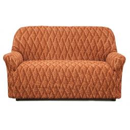 Натяжной чехол на двухместный диван «Виста. Ромбы»