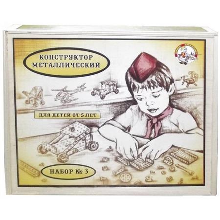 Купить Конструктор металлический Десятое королевство «Для уроков труда №3» в деревянной упаковке