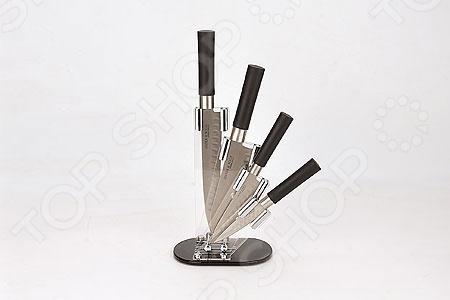 Набор ножей Mayer&amp;amp;Boch MB-21868Ножи<br>Набор ножей Mayer Boch MB-21868 состоит из четырех инструментов, изготовленных из нержавеющей стали, что гарантирует длительный срок службы и высокий уровень износоустойчивости. Ножи с тончайшим лезвием станут для вас верным помощником при нарезке овощей, фруктов и мяса. Поскольку их лезвия не впитывают запахов, вы сможете насладиться естественным вкусом продуктов без металлического привкуса. Специальный дизайн ручки обеспечивает безопасную работу и комфортное положение в руке, а пластиковая подставка, которая входит в набор, сэкономит место на рабочем столе и повысит уровень безопасности при хранении и транспортировке приборов.<br>