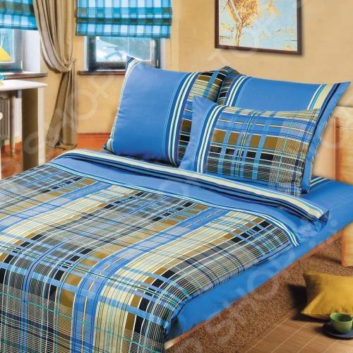 Комплект постельного белья ТексДизайн «Шотландка». 1,5-спальный