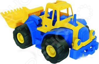 Машинка игрушечная Нордпласт «Трактор Богатырь с грейдером»Машинки<br>Машинка игрушечная Нордпласт Трактор Богатырь с грейдером замечательный образец игрушечной спецтехники. Мальчишкам нравится всевозможная техника, не станут исключением и профессиональные автомобили. Машинка подойдет для игры как дома, так и на улице, в песочнице. Игра с подобными моделями способствует развитию воображения и повышает любознательность. Сделана из качественных материалов, которые не вредят здоровью ребенка.<br>