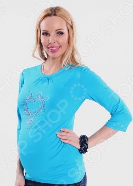 Фото Кофта для беременных Nuova Vita 1313.08. Цвет: бирюзовый