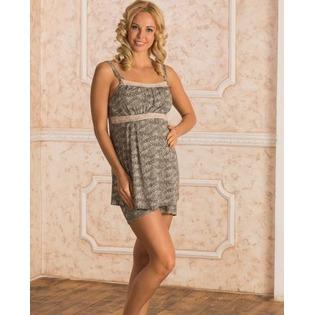 Купить Пижама для беременных. Nuova Vita 101.7 Рисунок: леопард. Цвет: коричневый