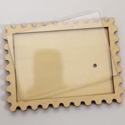 фото Заготовка деревянно-акриловая RTO «Марка». Размер: 12,2х9,2 см