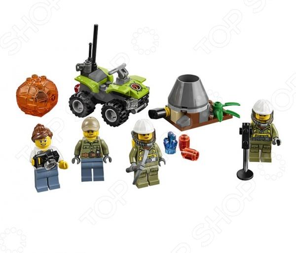 Конструктор LEGO «Набор для начинающих. Исследователи Вулканов»Конструкторы LEGO<br>Конструктор LEGO Набор для начинающих. Исследователи Вулканов отличный подарок для вашего малыша. Внутри яркой упаковки находится набор из 83 деталей. Собрав все части воедино, у ребенка получится квадроцикл и целая команда вулканологов, которым предстоит обнаружить в кипящей лаве полезные ископаемые. У храбрых исследователей есть все необходимое металлоискатель, кирка и фотоаппарат. В набор также входить модель вулкана. Конструкторы Lego развивают пространственное и логическое мышление, фантазию, творческие способности и мелкую моторику рук. А с каждым новым набором в коллекции будут расширяться варианты игровых сценариев.<br>