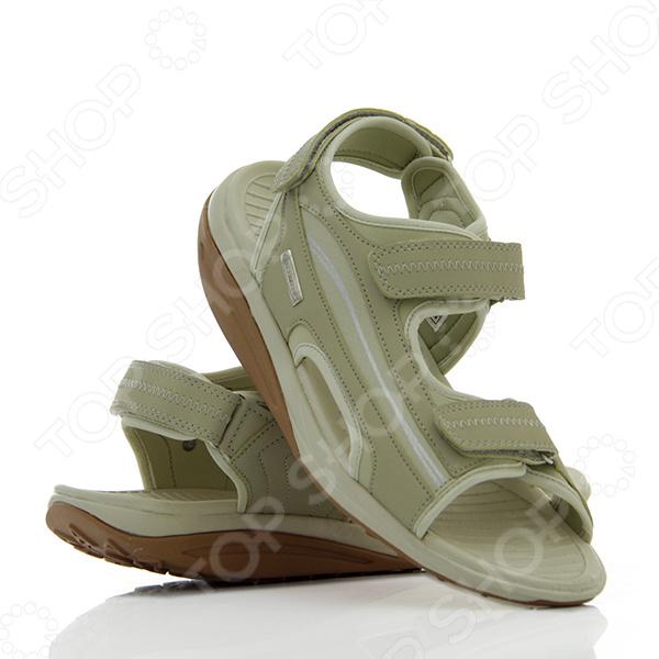 Сандалии Walkmaxx 2.0. Цвет: бежевыйКлоги. Тапочки. Сандалии<br>Сандалии становятся все более модной и популярной летней обувью. Разнообразие моделей велико, и мы не всегда знаем, что предпочесть. Сделайте выбор в пользу сандалий Walkmaxx 2.0 и не ошибетесь. Вот причины, по которым сандалии Walkmaxx 2.0 это лучшая летняя обувь:  Ноги проветриваются и не потеют. Настоящее спасение в жаркую погоду! Вы можете ходить в сандалиях по городским улицам, а можете совершать долгие прогулки по горам вашим ногам всегда будет комфортно.  Переобувайтесь за секунды. Три липучки на каждой сандалии позволят вам переобуться мгновенно!  Сохраняйте бодрость весь день. Сандалии Walkmaxx 2.0 помогают выработать правильную походку и оптимально перераспределить вес тела, что сохранит ваши силы во время долгих прогулок.  Прогулки с пользой для здоровья. Оригинальная круглая подошва сделает ходьбу полезной для здоровья и поможет избавиться от нежелательного веса. Вы почувствуете эффект с самого первого шага. В чем уникальные свойства подошвы Walkmaxx Люди привыкли носить обувь с жесткой негнущейся подошвой, хотя для наших ног более естественна и полезна ходьба босиком по мягкой земле и песку. Поэтому оригинальная округлая подошва сандалий Walkmaxx 2.0 имитирует эффект ходьбы по песчаному пляжу. При этом стопа медленно перекатывается вперед и назад, поэтому циркуляция крови улучшается и прорабатываются все мышцы от пяток до кончиков пальцев. Позаботьтесь о своих суставах Благодаря инновационной подошве Walkmaxx вырабатывается правильная походка и корректируется осанка, поскольку держать спину прямо становится проще. Ваши колени и позвоночник освободятся от лишних нагрузок и не будут болеть после долгой ходьбы. Работать будут только мышцы ног и ягодиц, поэтому при регулярных прогулках мышцы они только придут в должный тонус и существенно укрепятся. Теряйте вес без усилий Когда вы идете в обуви с инновационной подошвой Walkmaxx, из-за волнообразного колебания стопы мышцы тела непроизвольно напр