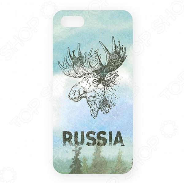 Чехол для iPhone 5 Mitya Veselkov «Лось» аксессуар защитное стекло xiaomi redmi note 5a red line tempered glass black