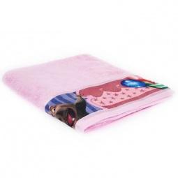 фото Полотенце махровое Непоседа «Мадагаскар. Глория». Размер полотенца: 130х60 см. Цвет: розовый