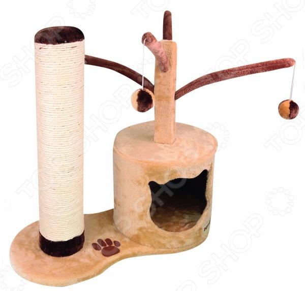 Дом-когтеточка DEZZIE Дубай это симпатичная когтеточка, которая станет не только необходимым элементом ухода за вашим любимцем, но и просто приятным дополнением к интерьеру. Благодаря красивым и надежным когтеточкам коготки вашей кошки будут в полном порядке, а так же не пострадает мебель и обои. Даже если ваша кошка не точила когти до этого на когтеточке ее внимание явно привлечет новая вещь и постепенно она станет точить коготки только там. Кроме того, для дополнительного эффекта вы можете использовать опрыскиватели с кошачьей мятой, таким образом ваша кошка сразу поймет, что новый предмет в доме предназначен для нее. Материал: сизаль, дерево, искусственный мех.