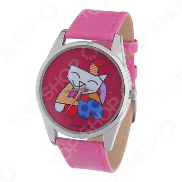 Часы наручные Mitya Veselkov «Лоскутная кошка» Color часы наручные mitya veselkov райский сад color