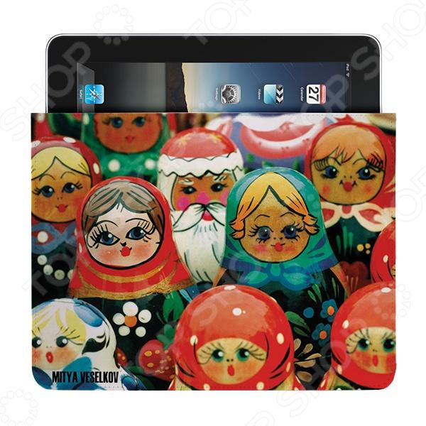 Чехол для iPad Mitya Veselkov «Матрешки» чехлол для ipad iphone mitya veselkov чехол для ipad райский сад ip 08