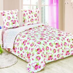 фото Комплект постельного белья Amore Mio «Люблю». Poplin. 1,5-спальный