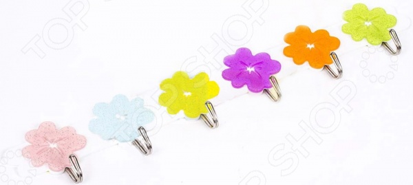 Крючки на планке Shine «Цветы»