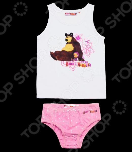 Комплект нижнего белья для девочки: майка и трусы «Маша и Медведь. Посиделки»