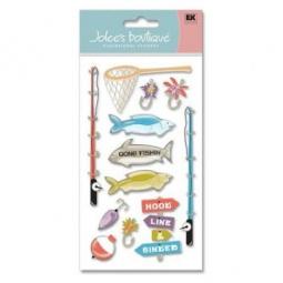 Купить Стикеры ЗD EKSuccess Tools «Рыбалка»
