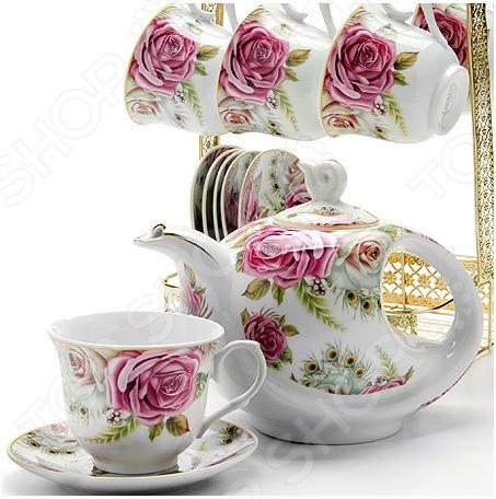 Чайный набор Loraine LR-24787 чайный набор loraine lr 24697 0 23 л керамика розовый