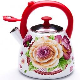 фото Чайник со свистком Mayer&Boch MB-23938 «Розы»