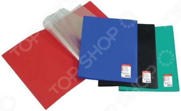 Папка с 30 файлами Erich Krause Standard отлично подойдет для хранения документов или просто часто используемых рабочих бумаг формата А4. В такой папке важные бумаги не помнутся, не потеряются и всегда будут под рукой. Вы сможете упорядочить рабочую документацию, а в офисе или рабочем кабинете будет порядок.