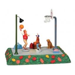 фото Фигурки керамические Lemax «Баскетбольная площадка: Один на один»