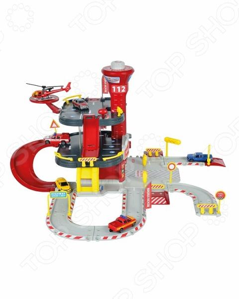Набор игровой для мальчика Majorette «Парковка пожарная станция» Creatix majorette majorette парковка creatix полицейская станция