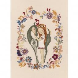 фото Набор для вышивания RTO «Девочка и лань»