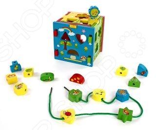 цена Игрушка-сортер развивающая Mapacha «Кубик радужный»