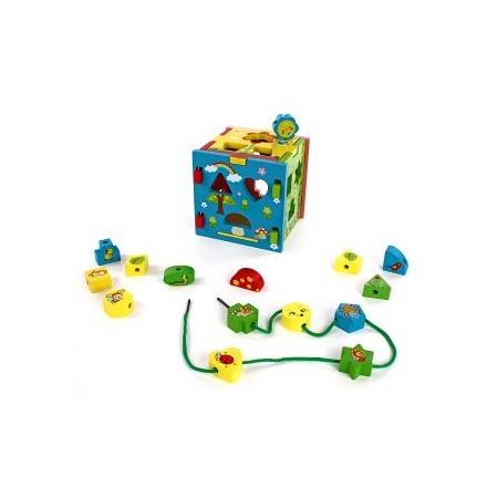 Купить Игрушка-сортер развивающая Mapacha «Кубик радужный»