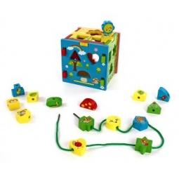 фото Игрушка-сортер развивающая Mapacha «Кубик радужный»
