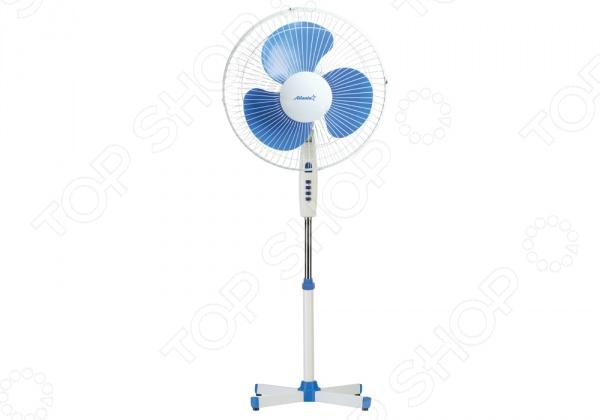Вентилятор напольный Atlanta ATH-142Вентиляторы<br>Вентилятор Atlanta ATH 142 способен обеспечивать холодным воздухом всю площадь помещения, в которой он установлен. Обладает небольшими размерами и весом, что дает возможность легко переносить его из помещения в помещение. Вентилятор идеально подойдет для дачных участков, его можно вынести на улицу и наслаждаться мягким воздушным потоком. Прост и удобен в управлении, хранении. Преимущества:  3 режима скорости;  108-и лучевая,  безопасная защитная решетка;  Режим вращения на подставке 90 ;  Поворот в вертикальной плоскости;  Регулировка высоты.<br>