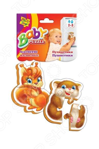 Пазл магнитный Vladi Toys «Пушистики»