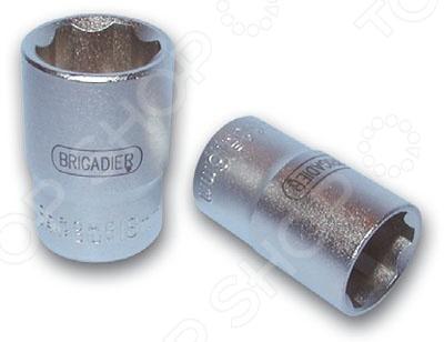 """Головка торцевая Brigadier шестигранная с профилем Super Lock 1/2"""""""