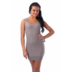 фото Туника вязаная Mondigo 9762. Цвет: серый. Размер одежды: 46
